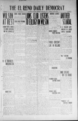 Primary view of object titled 'The El Reno Daily Democrat (El Reno, Okla.), Vol. 33, No. 129, Ed. 1 Wednesday, February 6, 1924'.