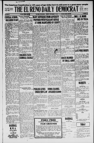 Primary view of object titled 'The El Reno Daily Democrat (El Reno, Okla.), Vol. 35, No. 208, Ed. 1 Friday, September 17, 1926'.