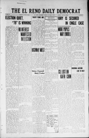 Primary view of object titled 'The El Reno Daily Democrat (El Reno, Okla.), Vol. 33, No. 23, Ed. 1 Tuesday, October 2, 1923'.