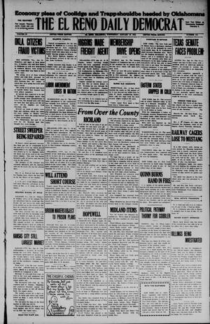 Primary view of object titled 'The El Reno Daily Democrat (El Reno, Okla.), Vol. 34, No. 119, Ed. 1 Wednesday, January 28, 1925'.