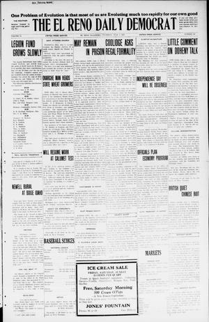 Primary view of The El Reno Daily Democrat (El Reno, Okla.), Vol. 34, No. 149, Ed. 1 Thursday, July 2, 1925