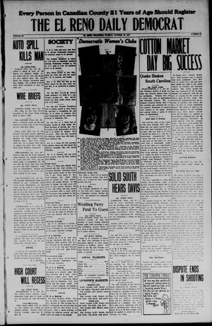 Primary view of object titled 'The El Reno Daily Democrat (El Reno, Okla.), Vol. 34, No. 35, Ed. 1 Monday, October 20, 1924'.