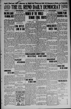 Primary view of object titled 'The El Reno Daily Democrat (El Reno, Okla.), Vol. 34, No. 172, Ed. 1 Wednesday, April 1, 1925'.