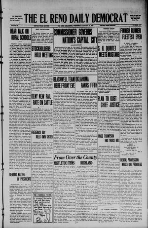 Primary view of object titled 'The El Reno Daily Democrat (El Reno, Okla.), Vol. 34, No. 113, Ed. 1 Wednesday, January 21, 1925'.