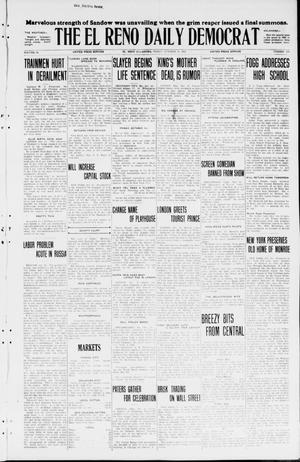 Primary view of The El Reno Daily Democrat (El Reno, Okla.), Vol. 34, No. 239, Ed. 1 Friday, October 16, 1925
