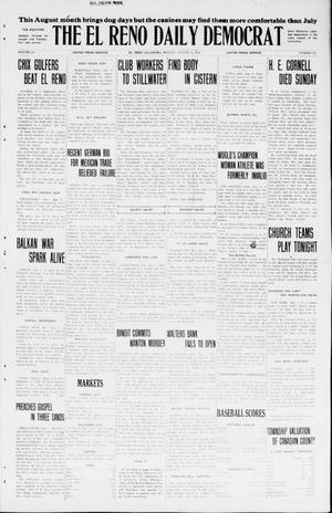Primary view of object titled 'The El Reno Daily Democrat (El Reno, Okla.), Vol. 34, No. 175, Ed. 1 Monday, August 3, 1925'.