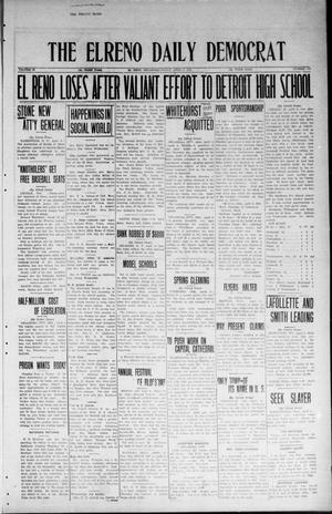 Primary view of object titled 'The El Reno Daily Democrat (El Reno, Okla.), Vol. 33, No. 179, Ed. 1 Friday, April 4, 1924'.