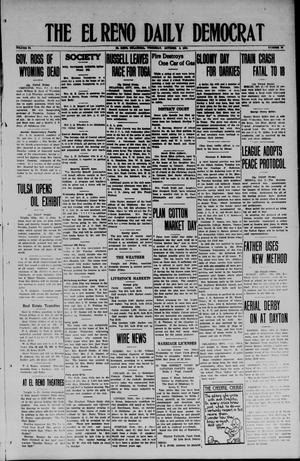 Primary view of object titled 'The El Reno Daily Democrat (El Reno, Okla.), Vol. 34, No. 20, Ed. 1 Thursday, October 2, 1924'.