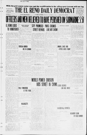 Primary view of object titled 'The El Reno Daily Democrat (El Reno, Okla.), Vol. 34, No. 222, Ed. 1 Saturday, September 26, 1925'.