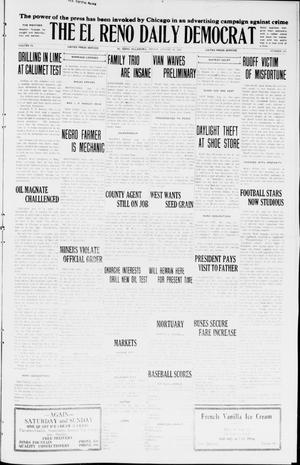 Primary view of object titled 'The El Reno Daily Democrat (El Reno, Okla.), Vol. 34, No. 185, Ed. 1 Friday, August 14, 1925'.