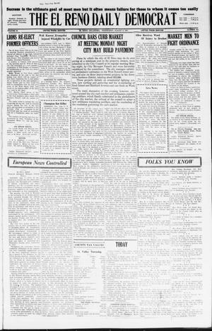 Primary view of object titled 'The El Reno Daily Democrat (El Reno, Okla.), Vol. 36, No. 163, Ed. 1 Wednesday, August 3, 1927'.