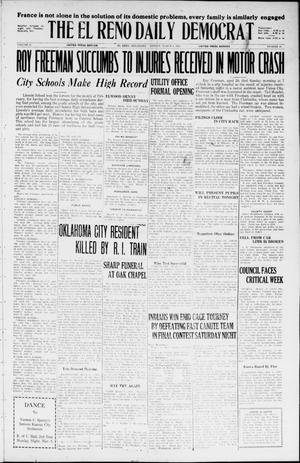 Primary view of object titled 'The El Reno Daily Democrat (El Reno, Okla.), Vol. 35, No. 47, Ed. 1 Sunday, March 7, 1926'.