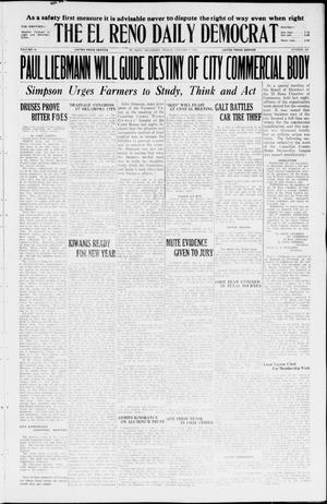 Primary view of object titled 'The El Reno Daily Democrat (El Reno, Okla.), Vol. 34, No. 309, Ed. 1 Friday, January 8, 1926'.