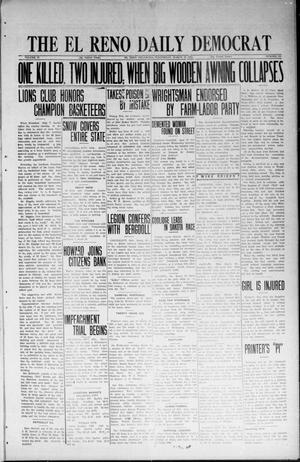 Primary view of object titled 'The El Reno Daily Democrat (El Reno, Okla.), Vol. 33, No. 165, Ed. 1 Wednesday, March 19, 1924'.