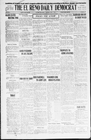 Primary view of object titled 'The El Reno Daily Democrat (El Reno, Okla.), Vol. 36, No. 188, Ed. 1 Thursday, September 1, 1927'.