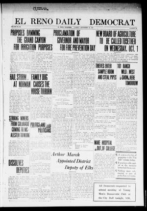 Primary view of object titled 'El Reno Daily Democrat (El Reno, Okla.), Vol. 23, No. 127, Ed. 1 Tuesday, September 30, 1913'.