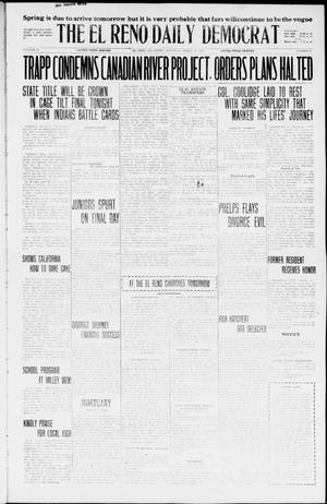 Primary view of object titled 'The El Reno Daily Democrat (El Reno, Okla.), Vol. 35, No. 58, Ed. 1 Saturday, March 20, 1926'.