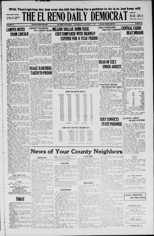 Primary view of The El Reno Daily Democrat (El Reno, Okla.), Vol. 35, No. 260, Ed. 1 Wednesday, November 17, 1926
