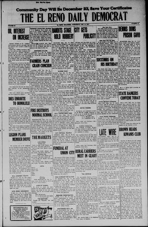 Primary view of object titled 'The El Reno Daily Democrat (El Reno, Okla.), Vol. 34, No. 78, Ed. 1 Wednesday, December 10, 1924'.