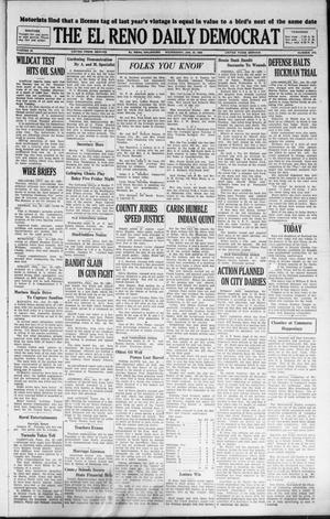 Primary view of object titled 'The El Reno Daily Democrat (El Reno, Okla.), Vol. 36, No. 310, Ed. 1 Wednesday, January 25, 1928'.