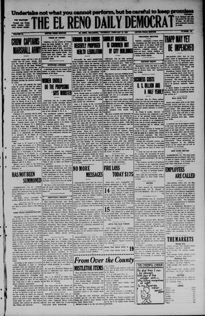 Primary view of object titled 'The El Reno Daily Democrat (El Reno, Okla.), Vol. 34, No. 138, Ed. 1 Thursday, February 19, 1925'.