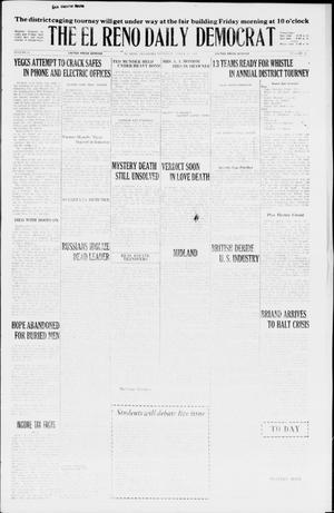 Primary view of object titled 'The El Reno Daily Democrat (El Reno, Okla.), Vol. 35, No. 50, Ed. 1 Thursday, March 11, 1926'.