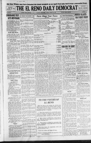 Primary view of object titled 'The El Reno Daily Democrat (El Reno, Okla.), Vol. 37, No. 54, Ed. 1 Friday, March 30, 1928'.