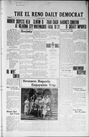 Primary view of object titled 'The El Reno Daily Democrat (El Reno, Okla.), Vol. 32, No. 282, Ed. 1 Tuesday, July 31, 1923'.