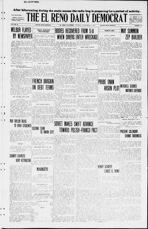Primary view of object titled 'The El Reno Daily Democrat (El Reno, Okla.), Vol. 34, No. 224, Ed. 1 Tuesday, September 29, 1925'.