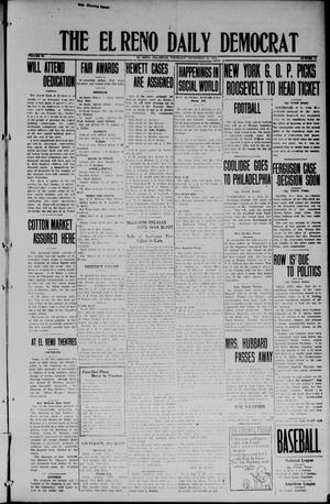 Primary view of object titled 'The El Reno Daily Democrat (El Reno, Okla.), Vol. 34, No. 14, Ed. 1 Thursday, September 25, 1924'.