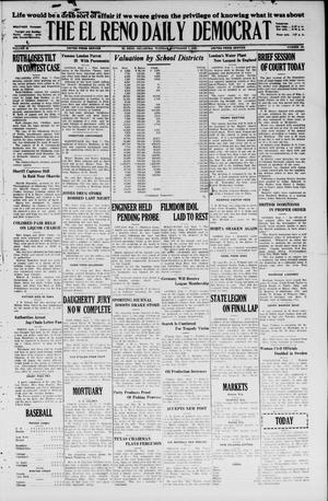 Primary view of object titled 'The El Reno Daily Democrat (El Reno, Okla.), Vol. 35, No. 199, Ed. 1 Tuesday, September 7, 1926'.