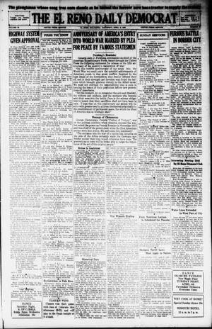 Primary view of object titled 'The El Reno Daily Democrat (El Reno, Okla.), Vol. 38, No. 55, Ed. 1 Saturday, April 6, 1929'.