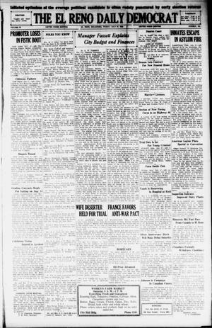 Primary view of object titled 'The El Reno Daily Democrat (El Reno, Okla.), Vol. 37, No. 154, Ed. 1 Friday, July 27, 1928'.