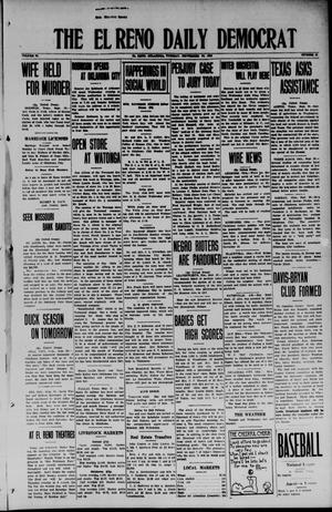 Primary view of object titled 'The El Reno Daily Democrat (El Reno, Okla.), Vol. 34, No. 18, Ed. 1 Tuesday, September 30, 1924'.