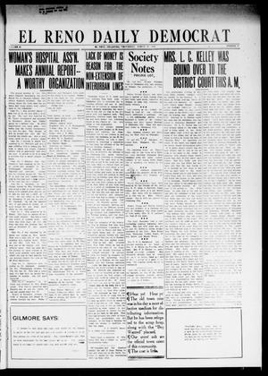 Primary view of object titled 'El Reno Daily Democrat (El Reno, Okla.), Vol. 24, No. 21, Ed. 1 Wednesday, March 25, 1914'.