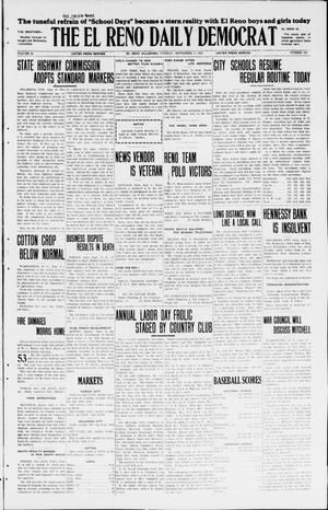 Primary view of object titled 'The El Reno Daily Democrat (El Reno, Okla.), Vol. 34, No. 206, Ed. 1 Tuesday, September 8, 1925'.