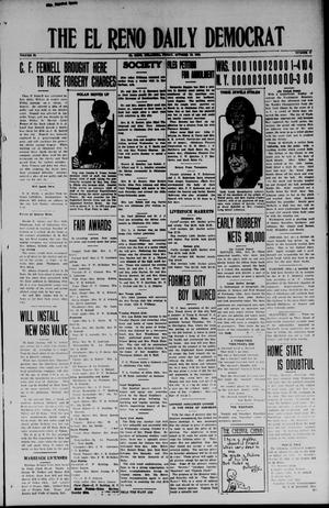 Primary view of object titled 'The El Reno Daily Democrat (El Reno, Okla.), Vol. 34, No. 27, Ed. 1 Friday, October 10, 1924'.