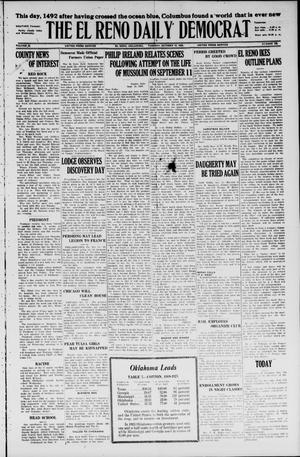 Primary view of object titled 'The El Reno Daily Democrat (El Reno, Okla.), Vol. 35, No. 229, Ed. 1 Tuesday, October 12, 1926'.