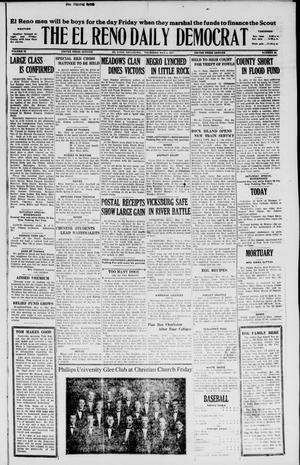 Primary view of object titled 'The El Reno Daily Democrat (El Reno, Okla.), Vol. 36, No. 90, Ed. 1 Thursday, May 5, 1927'.