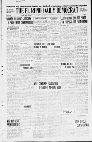 Primary view of object titled 'The El Reno Daily Democrat (El Reno, Okla.), Vol. 34, No. 243, Ed. 1 Wednesday, October 21, 1925'.