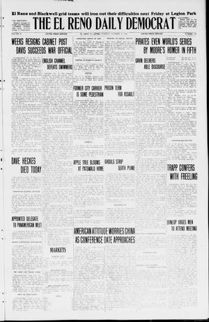 Primary view of object titled 'The El Reno Daily Democrat (El Reno, Okla.), Vol. 34, No. 236, Ed. 1 Tuesday, October 13, 1925'.
