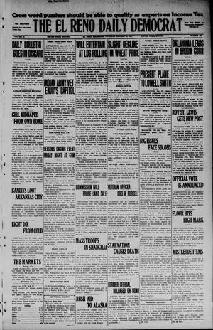 Primary view of object titled 'The El Reno Daily Democrat (El Reno, Okla.), Vol. 34, No. 120, Ed. 1 Friday, January 30, 1925'.