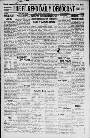 Primary view of object titled 'The El Reno Daily Democrat (El Reno, Okla.), Vol. 35, No. 220, Ed. 1 Friday, October 1, 1926'.