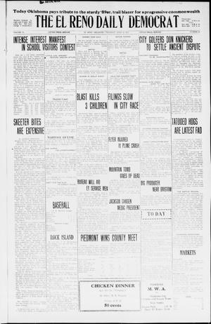 Primary view of object titled 'The El Reno Daily Democrat (El Reno, Okla.), Vol. 35, No. 87, Ed. 2 Thursday, April 22, 1926'.