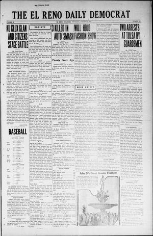 Primary view of object titled 'The El Reno Daily Democrat (El Reno, Okla.), Vol. 32, No. 296, Ed. 1 Thursday, August 16, 1923'.