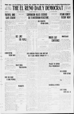 Primary view of object titled 'The El Reno Daily Democrat (El Reno, Okla.), Vol. 34, No. 193, Ed. 1 Monday, August 24, 1925'.