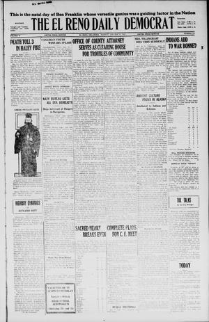 Primary view of object titled 'The El Reno Daily Democrat (El Reno, Okla.), Vol. 35, No. 309, Ed. 1 Monday, January 17, 1927'.
