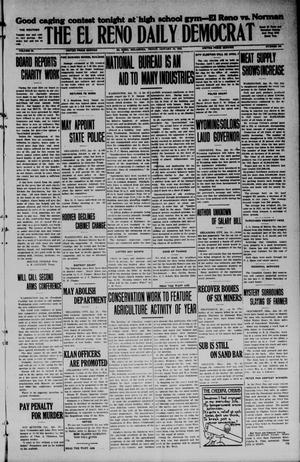 Primary view of object titled 'The El Reno Daily Democrat (El Reno, Okla.), Vol. 34, No. [109], Ed. 1 Friday, January 16, 1925'.