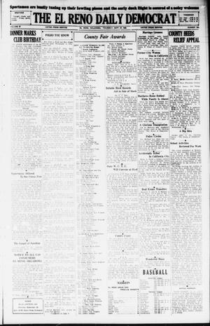 Primary view of object titled 'The El Reno Daily Democrat (El Reno, Okla.), Vol. 37, No. 206, Ed. 1 Thursday, September 27, 1928'.