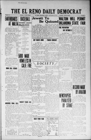 Primary view of The El Reno Daily Democrat (El Reno, Okla.), Vol. 33, No. 11, Ed. 1 Tuesday, September 18, 1923